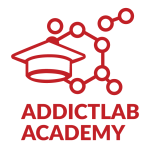 Addictlab Academy logo educational creative collaborative birthday parties cross curricular project based learning in Switzerland