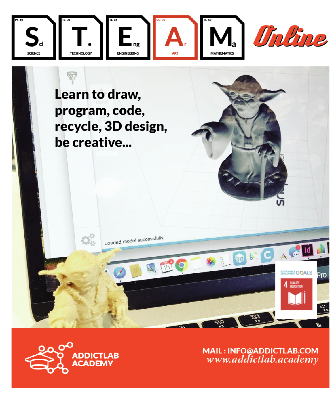 Innovative home activities : STEAM online courses