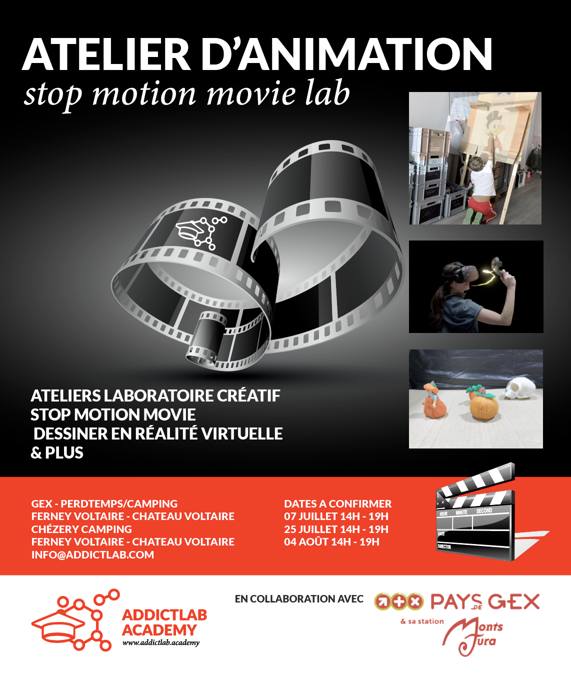 Ateliers d'animation – Addictlab collaborates with Pays de Gex Tourism